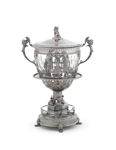 A 19th century French silver sugar bowl and cover by S. J. D. Dupezard, Paris 1817-1838