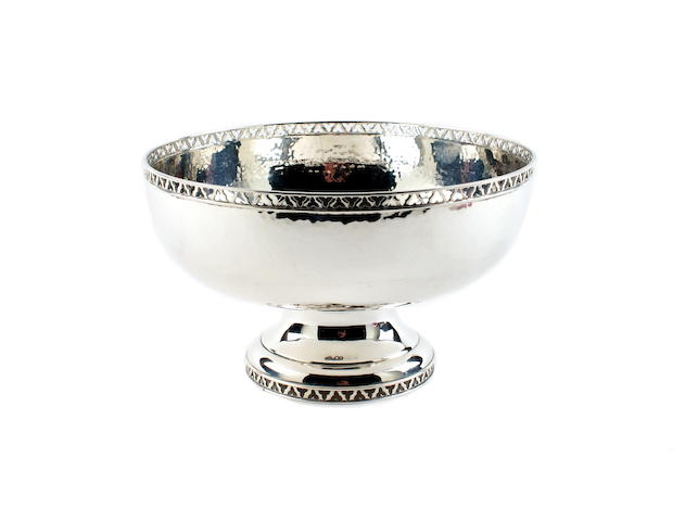 A silver bowl by Edward Barnard & Sons Ltd., London 1924