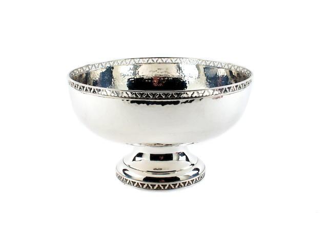 A silver bowl by Edward Barnard & Sons Ltd., London 1924