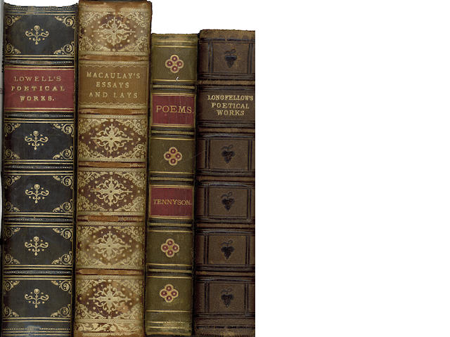 BINDINGS - THACKERAY (WILLIAM MAKEPEACE) The Works, 12 vol., 1874--TENNYSON (ALFRED) The Works, 7 vol., 1880--WORDSWORTH (WILLIAM) The Poetical Works, [1890]; and upwards of 26 others, bindings (small quantity)