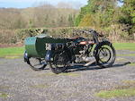 1923 BSA 557cc Model H Motorcycle Combination Frame no. B4592 Engine no. R4558