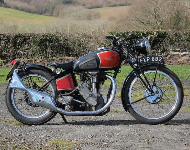 1939 Excelsior 500cc Manxman Frame no. MVH249