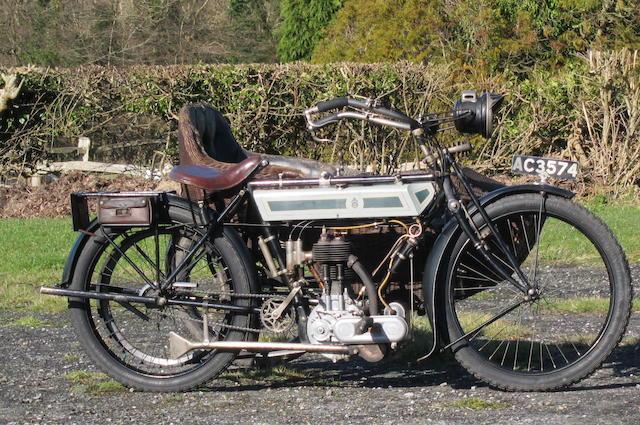 1913 Triumph 3½hp Motorcycle Combination Frame no. 215783 Engine no. 26713