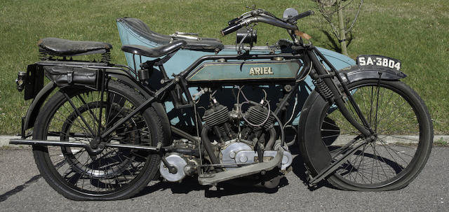 c.1915 Ariel 5-6hp Motorcycle Combination Frame no. 7532