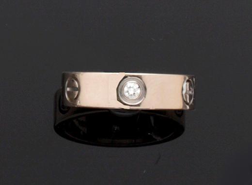 Cartier: A diamond set 'Love' ring