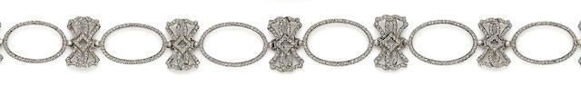 A late 19th century diamond-set necklace