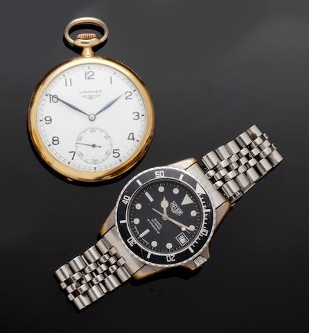 Heuer: A gentleman's stainless steel 200 metres Professional wristwatch(7)