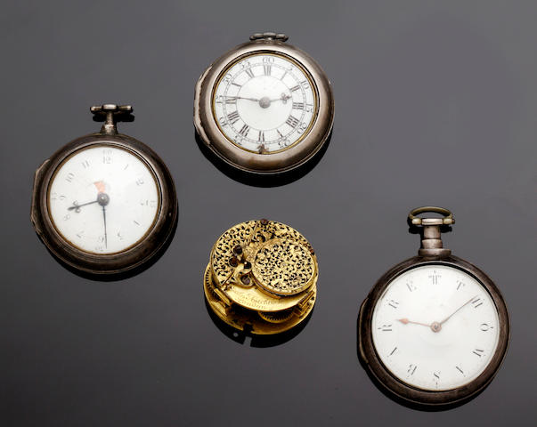 Assorted Georgian pocket watches
