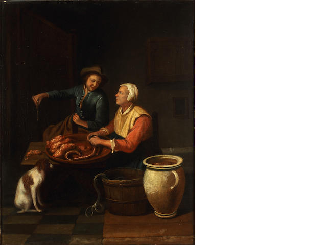Dutch School, 18th Century The eel seller