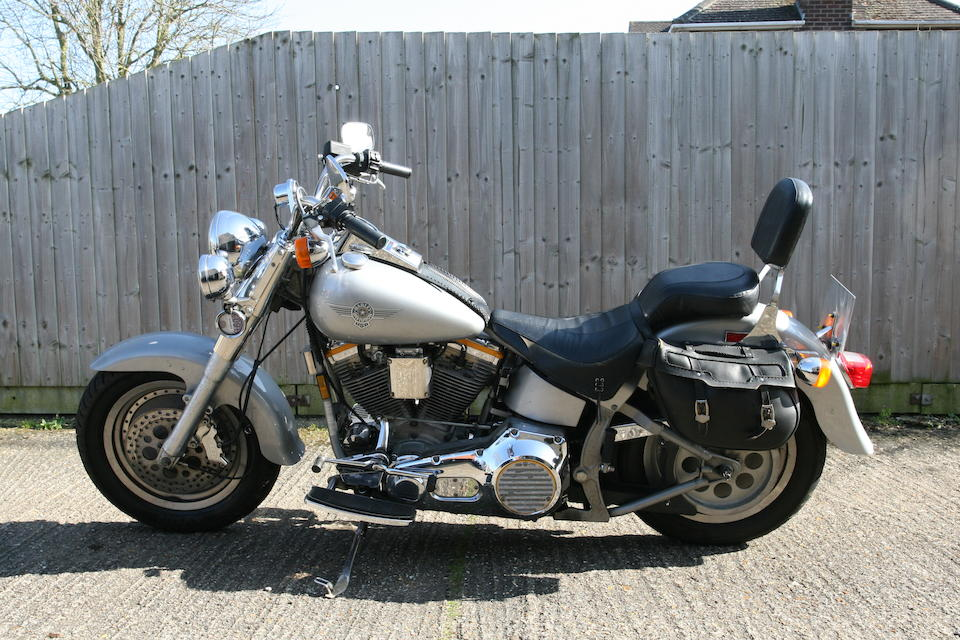One owner, 12,500 miles from new, 1990 Harley-Davidson 82ci FLSTF Fat Boy 'Grey Ghost' Frame no. 1HD1BML11Y030493
