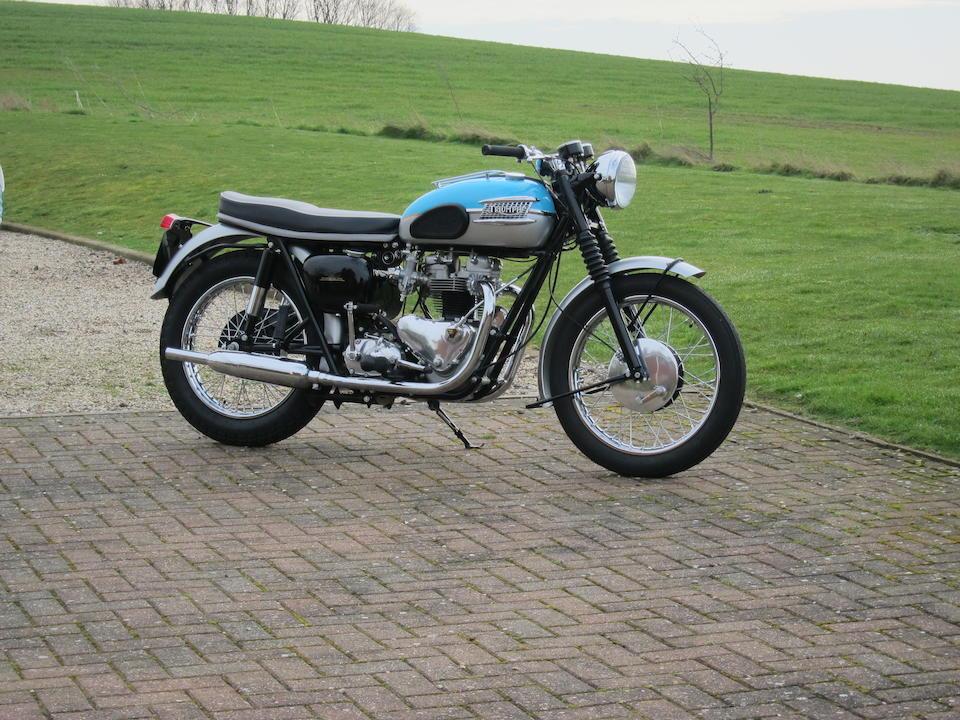 Bonhams 1961 Triumph 650cc T120 Bonneville Frame No D15808 Engine