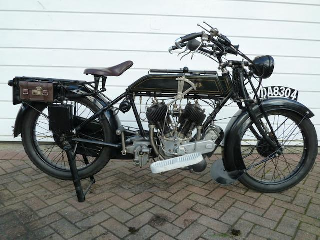 1924 AJS 799cc Model D Frame no. 24163 Engine no. 24163