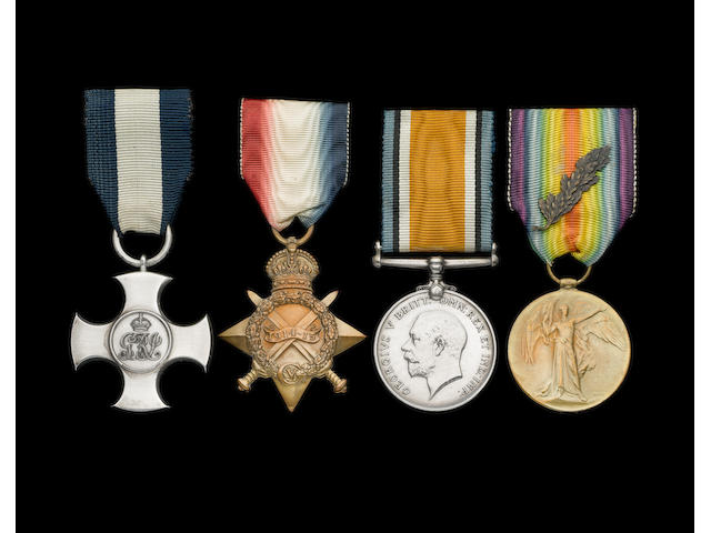 A Gallipoli D.S.C. group of four to Captain F.H.Thomas, Royal Marines Light Infantry,