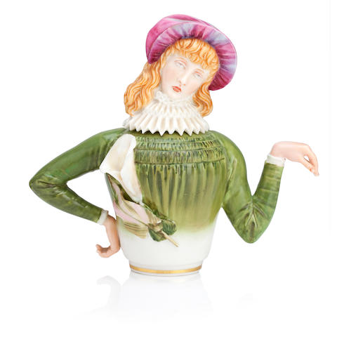 A Royal Worcester Aesthetic teapot and cover Dated 1881