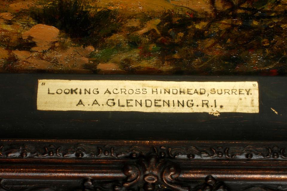 Alfred Augustus Glendening (British, 1840-1921) Looking accross Hindhead, Surrey