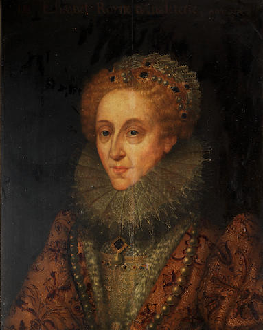 English School, 17th Century Portrait of Queen Elizabeth I, bust-length
