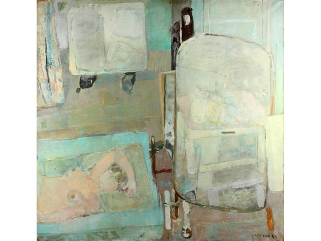 Pierre Lesieur (French, born 1922) Nude at her boudoir, 1965 160cm x 160cm