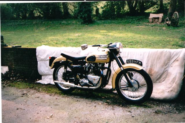 1958 Triumph 650cc Thunderbird T110 Frame no. 6TO 19460 Engine no. 6TO 19640