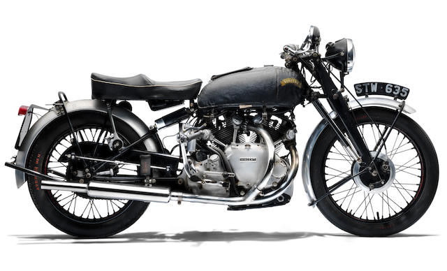 Property of a deceased's estate, 1951 Vincent 998cc Rapide Frame no. RC8370 Engine no. F10/AB/1/6470