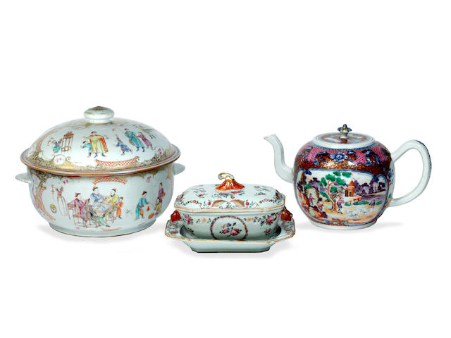 A small group of late 18th/early 19th Chinese export wares