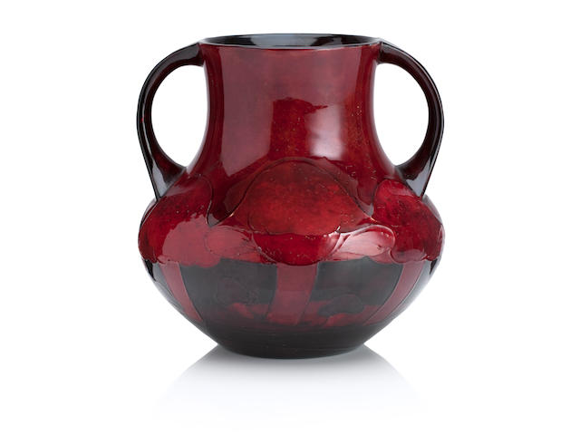 A William Moorcroft flambe twin handled 'Claremont' vase Dated 1932