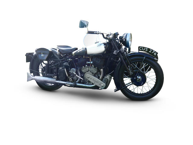 1939 Brough Superior 990cc SS80 & Factory 'Petrol Tube' Sidecar Frame no. MS 2064 Engine no. 4777