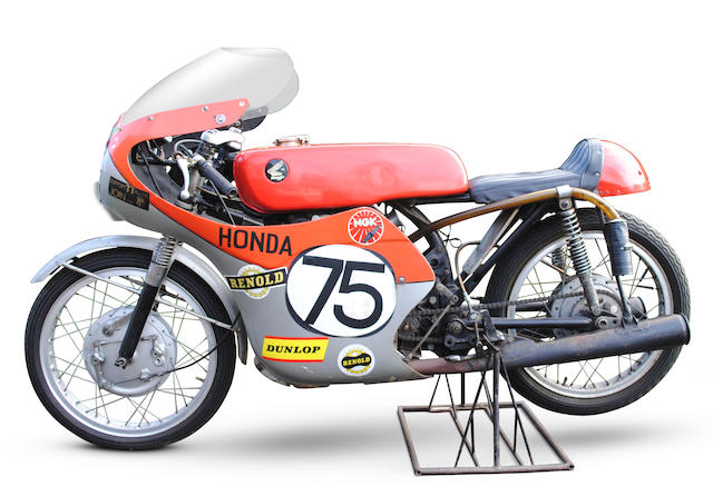 The Ex-Ken Armstrong, John Lawley, Isle of Man Lightweight TT, 1964 Honda 125cc CR93 Racing Motorcycle Frame no. CR93-3100170 Engine no. CR93E 3100156