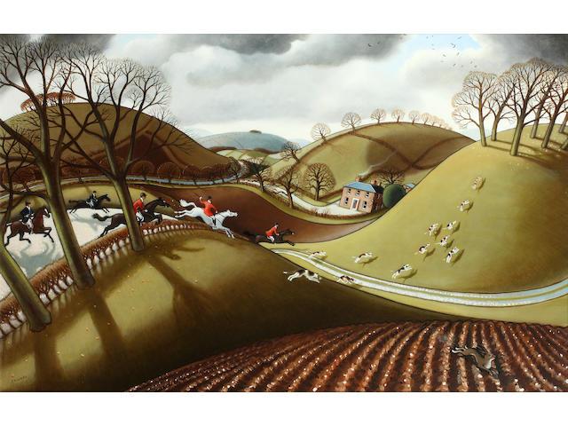 Jonathan Armigel Wade (British, born 1960) 'Over the Hedge'