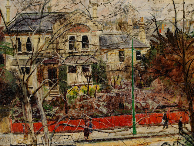 Carel Weight R.A. (British, 1908-1997) Putney Road, Winter