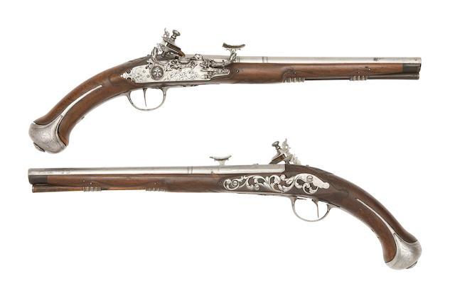 A Pair Of Central Italian 32-Bore Snaphaunce Belt Pistols