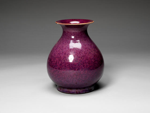 A flambé glazed pear-shaped vase 18th/19th century