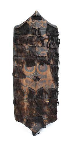 A Kenyah Dayak shield, kliau, Kalimantan, Borneo
