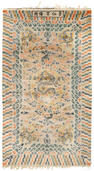 A Chinese carpet Late Qing Dynasty, Jingren Gong Beiyong five-character mark