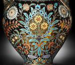 A large J. & L. Lobmeyr 'Arabian-style' vase, Vienna, circa 1878