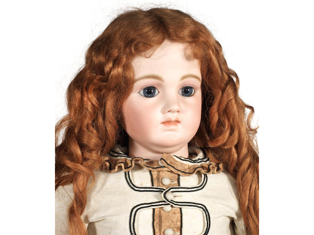 Rare and Large Schmitt Et Fils bisque head Bebe