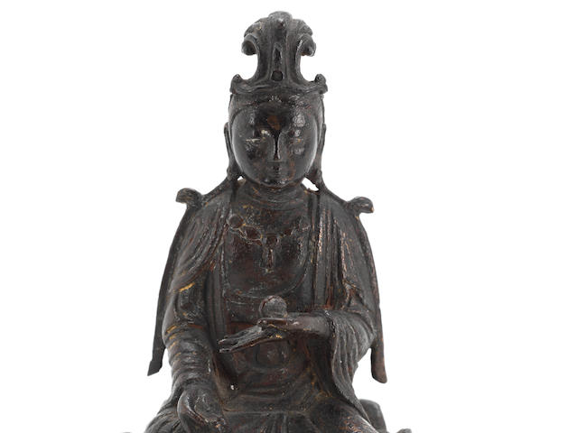 A small bronze figure of Guanyin  Ming Dynasty