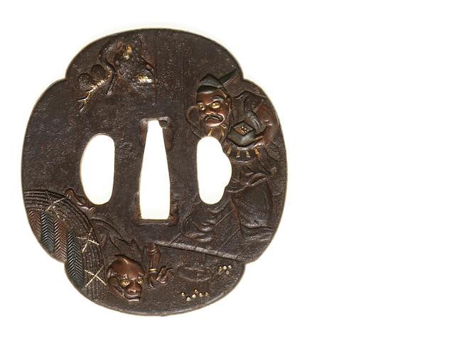 Six various iron tsuba 17th to 19th century