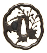 Six various iron tsuba 17th to 19th century