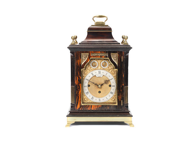 A fine and rare late 19th century quarter chiming table clock of small size Smith & Sons, St John's Square, London