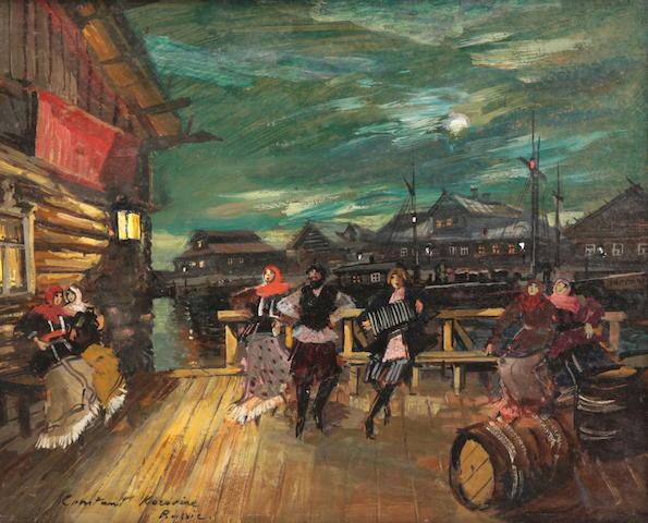 Konstantin Alexeevich Korovin (Russian, 1861-1939) The dance