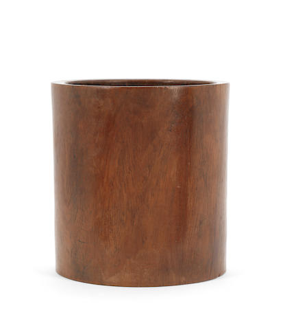A hardwood brush pot, bitong Qing Dynasty