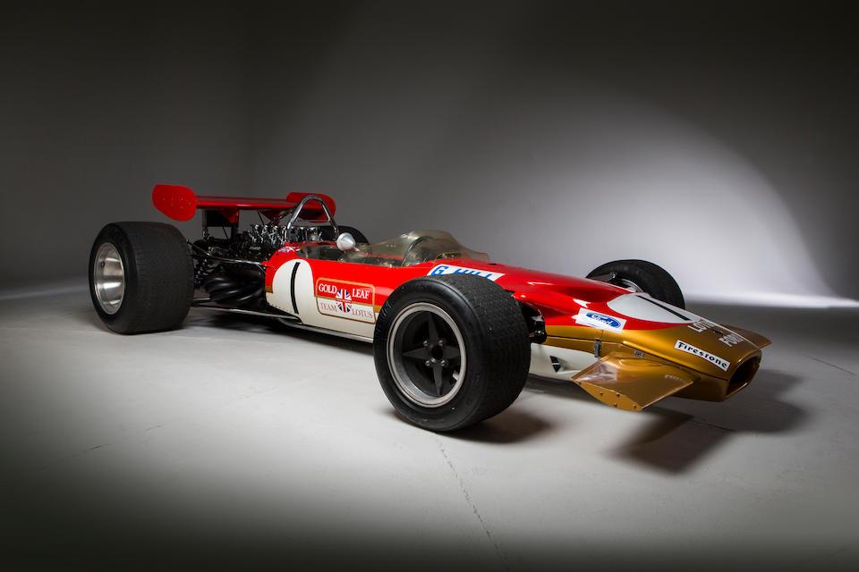 The Ex-Graham Hill, Richard Attwood, Joakim Bonnier, Dave Charlton,1968-69 Lotus-Cosworth Ford Type 49B Formula 1 and Tasman Racing Single-Seater  Chassis no. 49B-R8