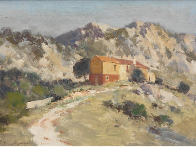 Edward Seago, RWS (British, 1910-1974) Farm House at Piccolo Pevero