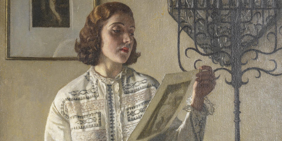 Harold Knight, RA, ROI, RP (British, 1874-1961) The Print