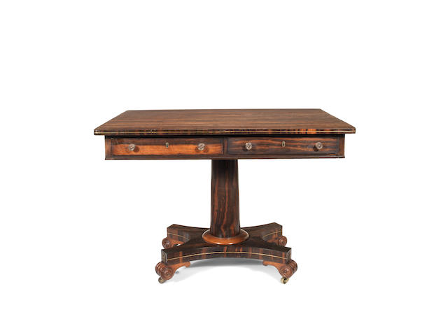 A Regency coromandel side table
