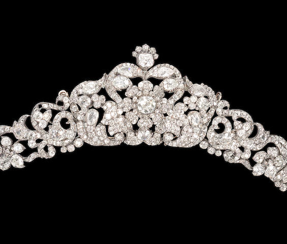 A diamond tiara,