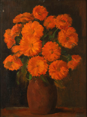 Jacob Kramer (British, 1892-1962) Marigolds