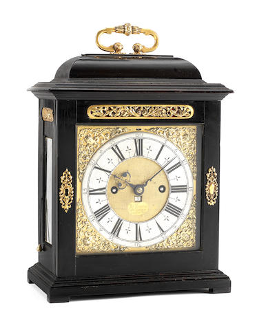 A fine early 18th century quarter repeating ebony table clock. Thomas Tompion and Edward Banger, London, number 404
