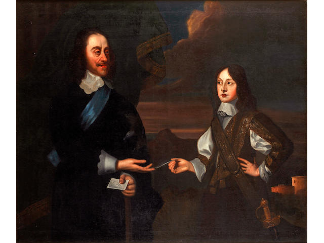 After Sir Peter Lely Portrait of Charles I (1600-1649) and his son James, Duke of York