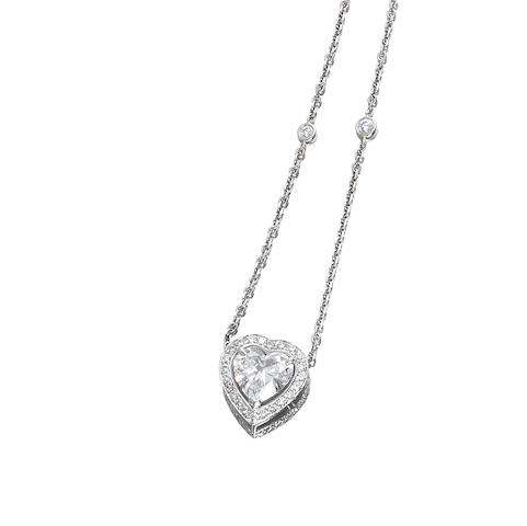 A diamond pendant/necklace, by Boodles